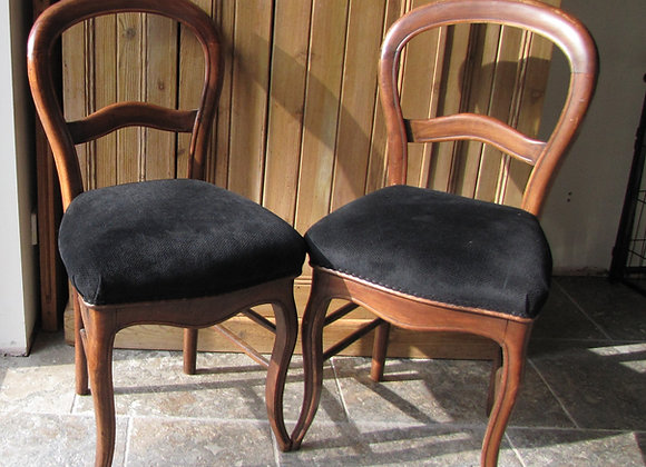 PAIR OF FRENCH BALLOON BACK CHAIRS