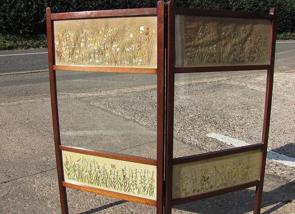 Edwardian Mahogany framed fire screen