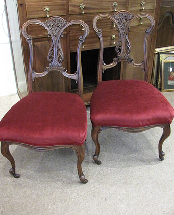 PRETTY PAIR OF BEDROOM CHAIRS
