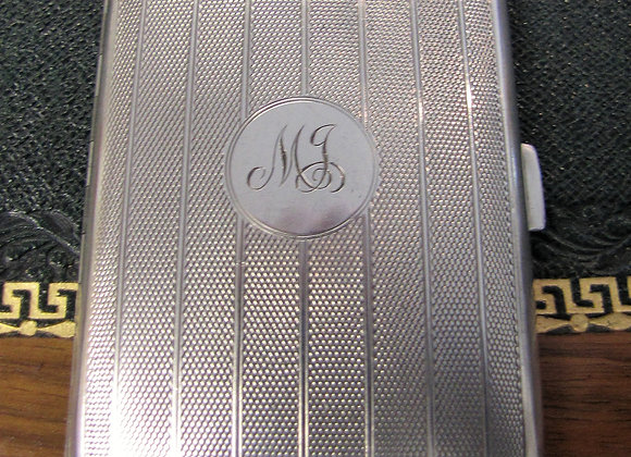 Silver Cigarette Case, William Neale Ltd, Birmingham 1925