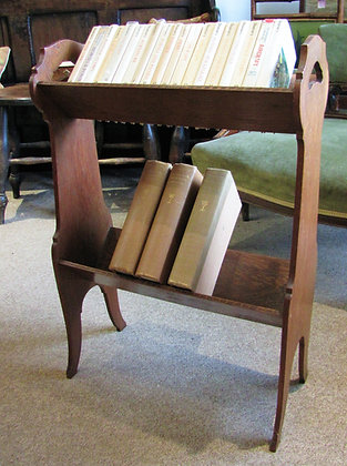 Arts and Crafts Oak Book Trough Stand