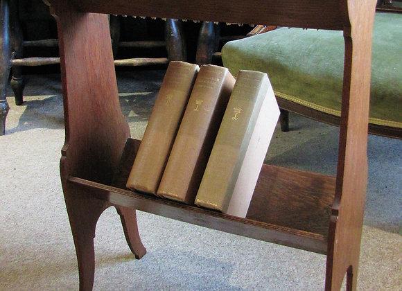 Arts and Crafts Oak Book Trough Stand
