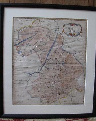 Antique map of Cambridgeshire.