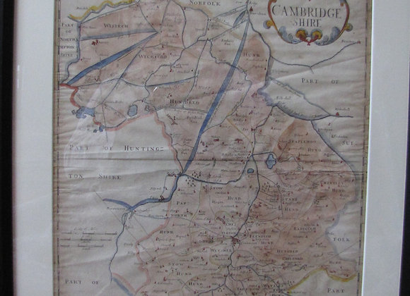 Antique map of Cambridgeshire.