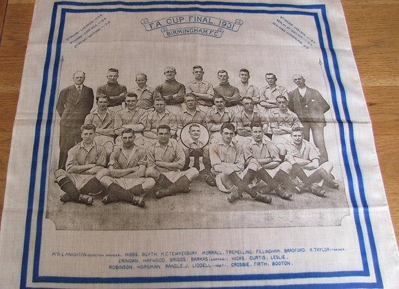 1931 F.A. Cup Final Scarf/handkerchief