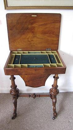 ANTIQUE WORK TABLE,  SEWING TABLE c 1870