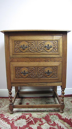 Light Oak Chest On Stand