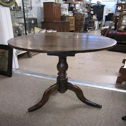 18TH CENTURY REVOLVING TOP CIRCULAR TABLE