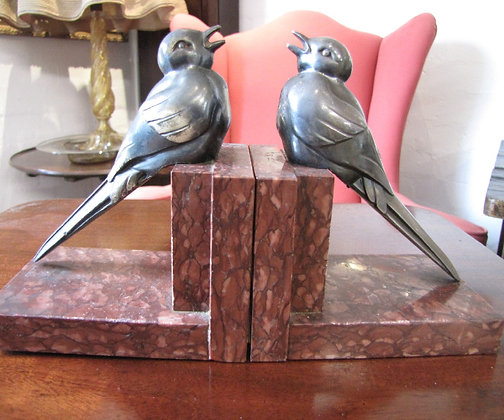 ART DECO FRENCH BIRD BOOK ENDS