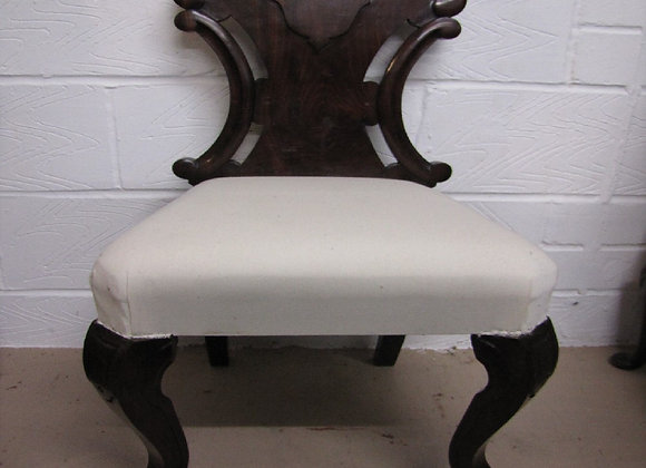 Solid Mahogany French Chair for Reupholstering