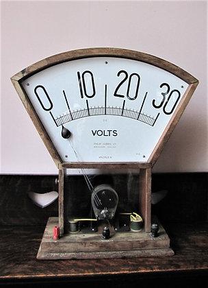 Large 1930's Demonstration Voltmeter