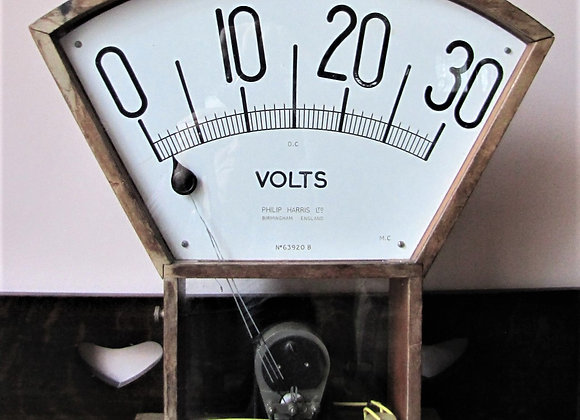 Large 1930's Demonstration Voltmeter