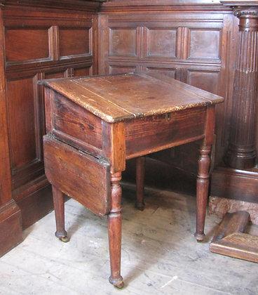 Antique pine school desk