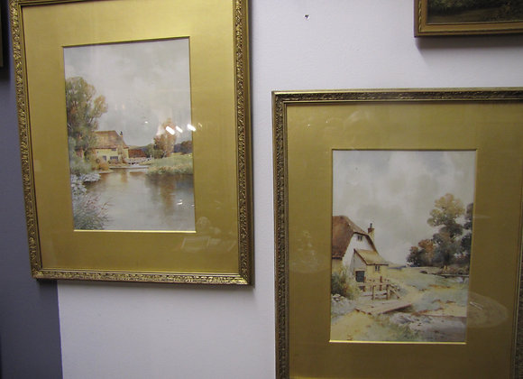 PAIR OF WATERCOLOURS 1912
