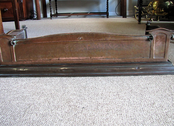 ANTIQUE ARTS & CRAFTS COPPER FENDER