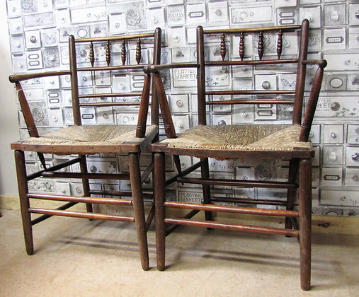 PAIR OF HEALS SUSSEX CHAIRS