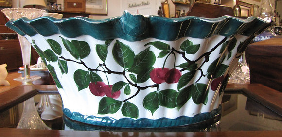 Antique Wemyss Large Cherry Basket