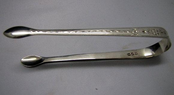 Antique Georgian Sterling Silver Sugar Tongs. 1811