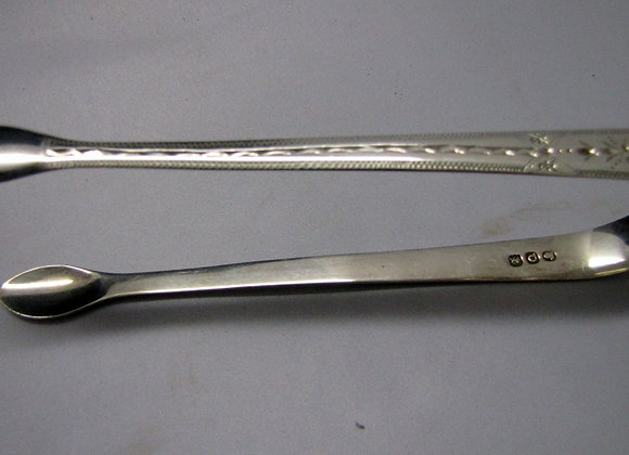 Antique Georgian Sterling Silver Sugar Tongs. 1811