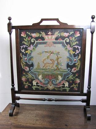 Victorian Mahogany Fire-screen