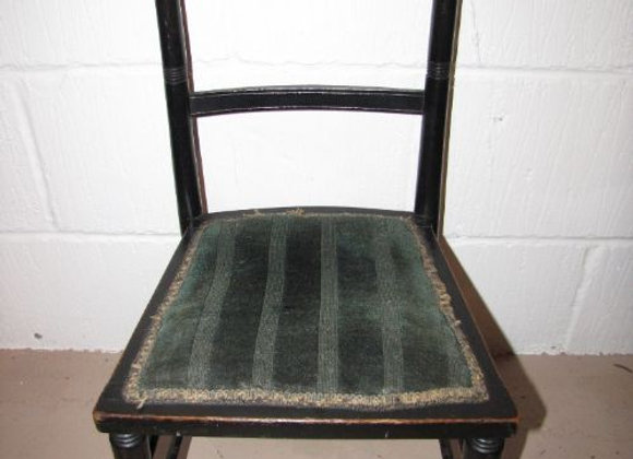 VICTORIAN EBONISED CHILDS CHAIR