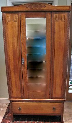 Small Oak Art Deco Wardrobe