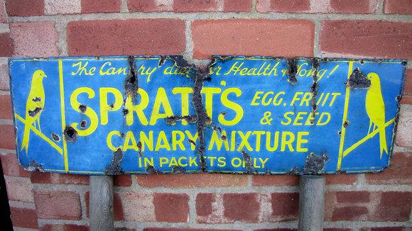 SPRATT'S ORIGINAL ENAMEL SIGN
