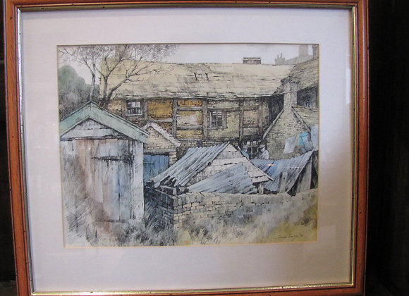 Henley in Arden ink and watercolour, George Busby