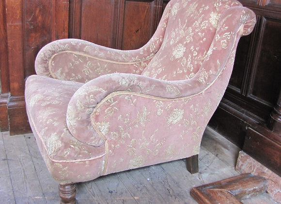 Howard style deep seated upholstered armchair