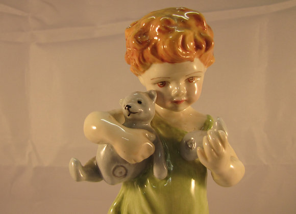 Royal Worcester figure, 'Wednesday's Child' modelled by F G Doughty