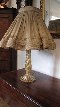Barovier & Toso Murano Coronado d'Oro Glass Lamp