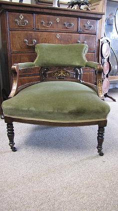 Victorian Inlaid Tub Chair