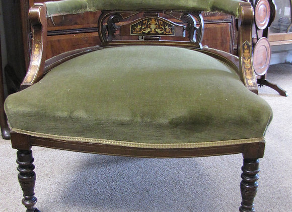 Victorian Inlaid Tub Chair