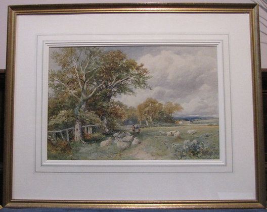 David Bates Watercolour 'The Edge Of The Wood'