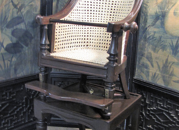 EARLY 19th C. CHILD'S HIGH CHAIR & TABLE