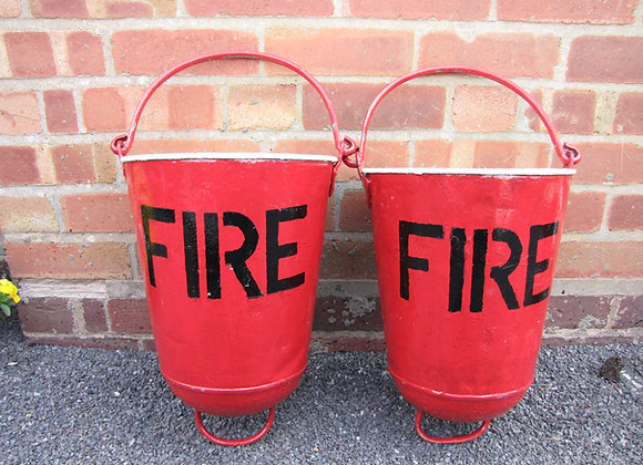 PAIR OF 1940'S HANGING FIRE BUCKETS