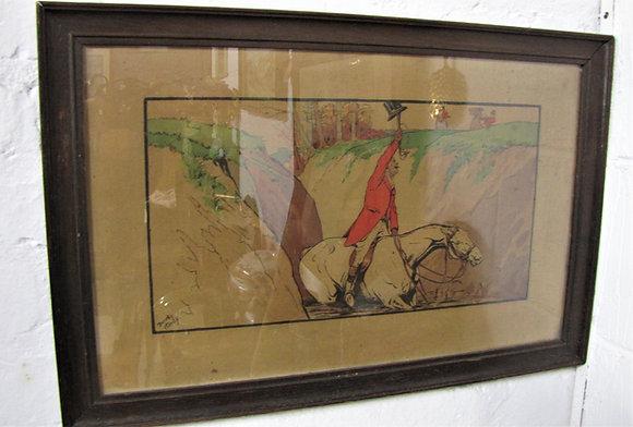Dorothy Hardy Chromolithograph Hunting Scene