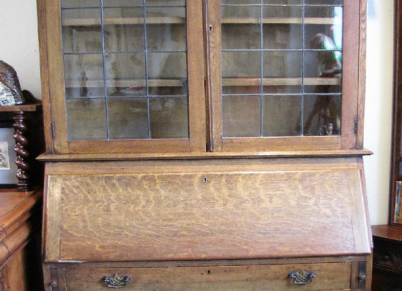 LIBERTY ARTS & CRAFTS OAK BUREAU BOOKCASE