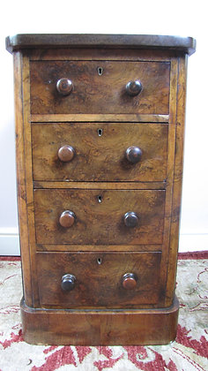19th Century Small Walnut Chest of drawers