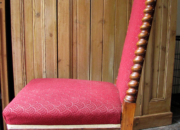 Antique Walnut Upholstered Occasional Chair