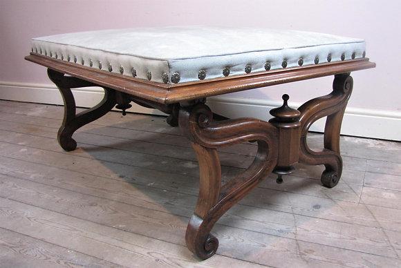 Large antique Regency footstool