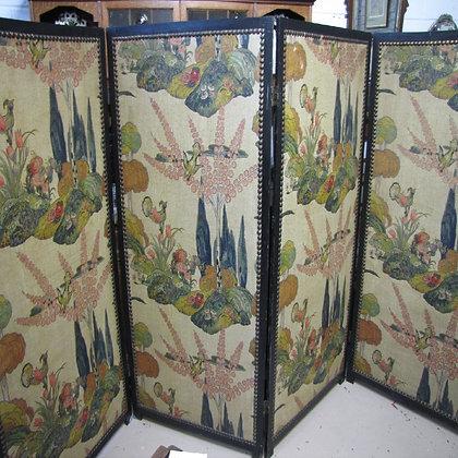 Oriental Themed Four Fold Screen