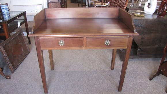 VICTORIAN MAHOGANY WRITING TABLE OR WASH STAND