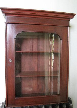Mahogany wall mounted display cabinet