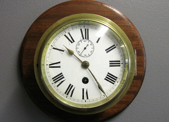 Brass Cased Ship's Clock
