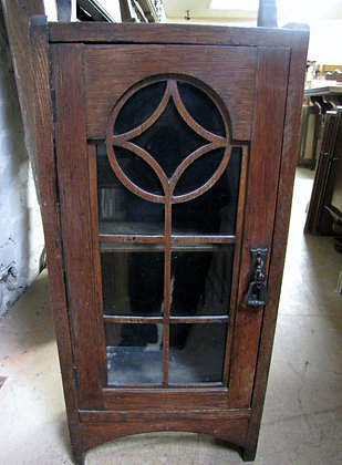 SMALL OAK GLAZED CABINET
