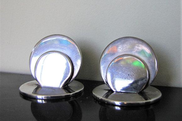 Pair of Sampson Mordan Silver Menu Holders.