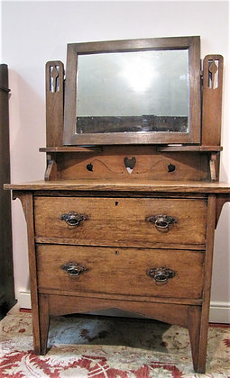 Oak Arts & Crafts Dressing Table Chest