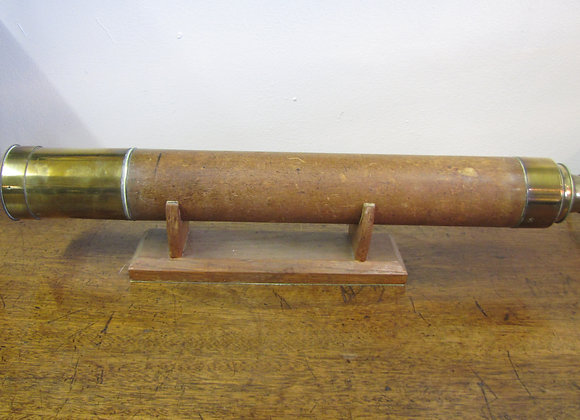 Antique Brass And Mahogany Telescope.  J Cetti & Co London