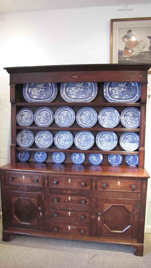 Antique Georgian Welsh Oak Dresser Base